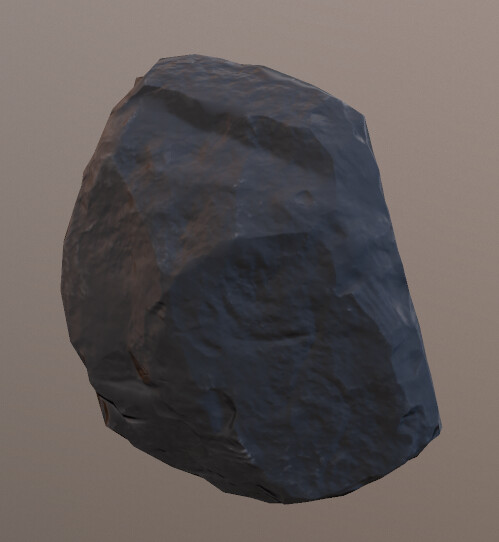 this rock was done in zbrusht then re-topped in maya
