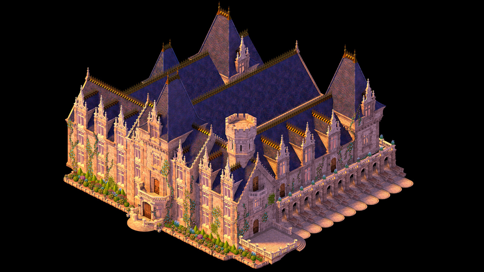The Manor I was responsible for modelling. There were some major challenges in getting it to blend seamlessly with the interior while also ensuring each room had enough space to play out the narrative of the game.