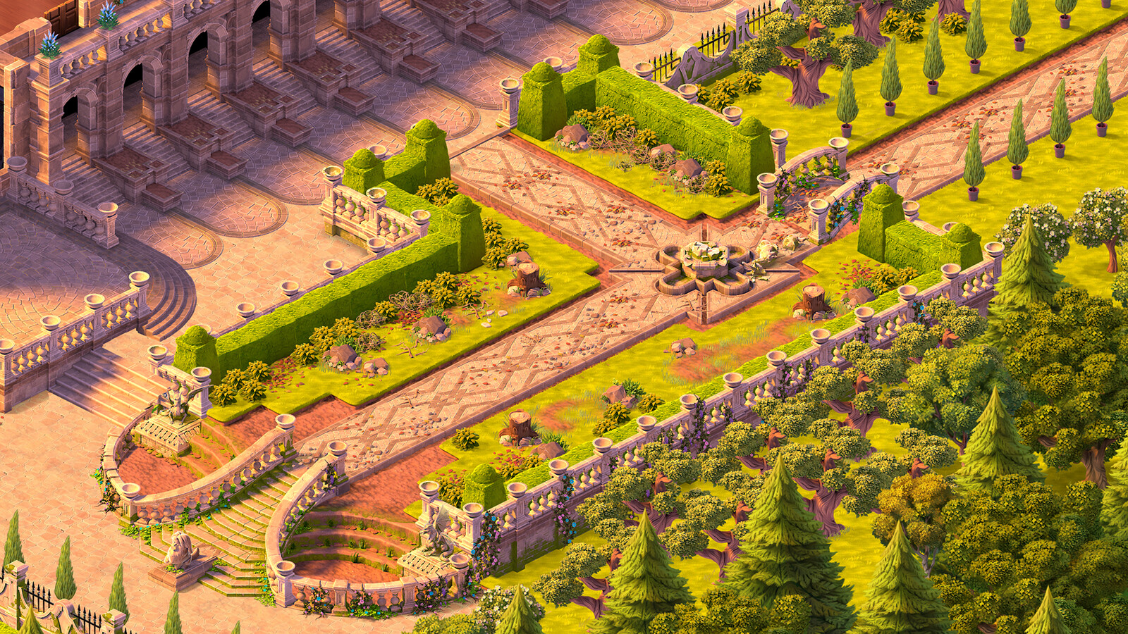 Another area I assembled for the game. I was responsible for modelling most of the assets other than the foliage.