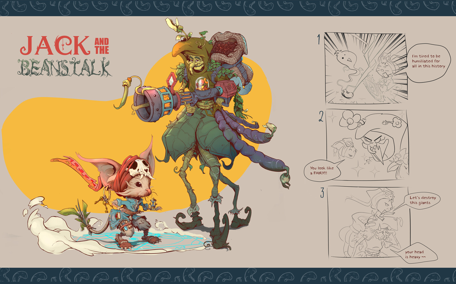 Jack and the Beanstalk concept