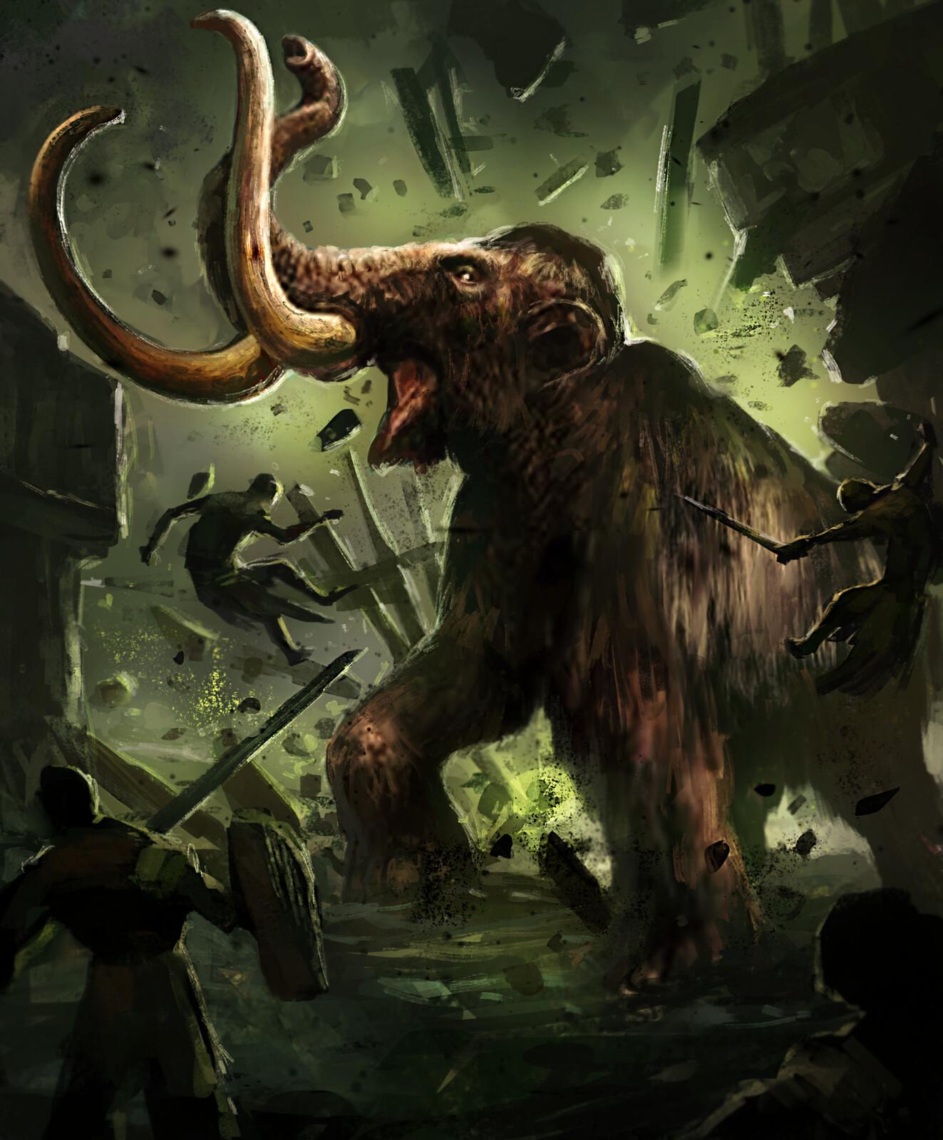 Enraged Mammoth--Arcane Gladiator TCG