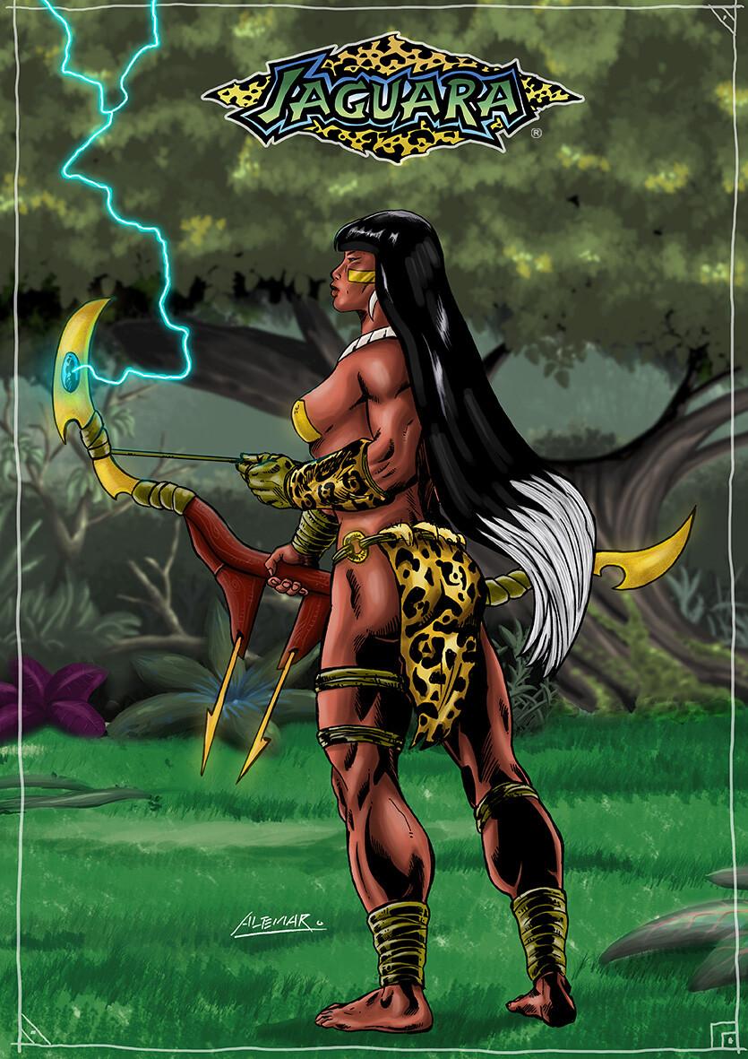 Jaguar with the powerful Combat Double Bow called Ybakygûar Ubira