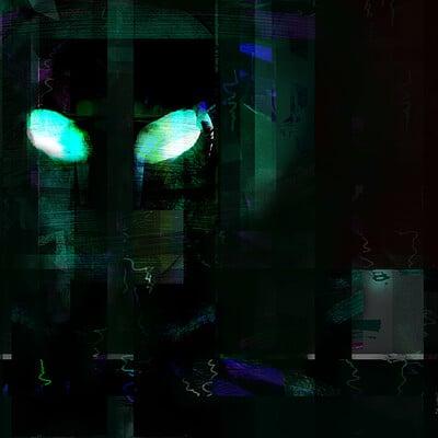 Zeta/Sirian/Human Tribrid Self Portrait :: Channeled Extraterrestrial Art