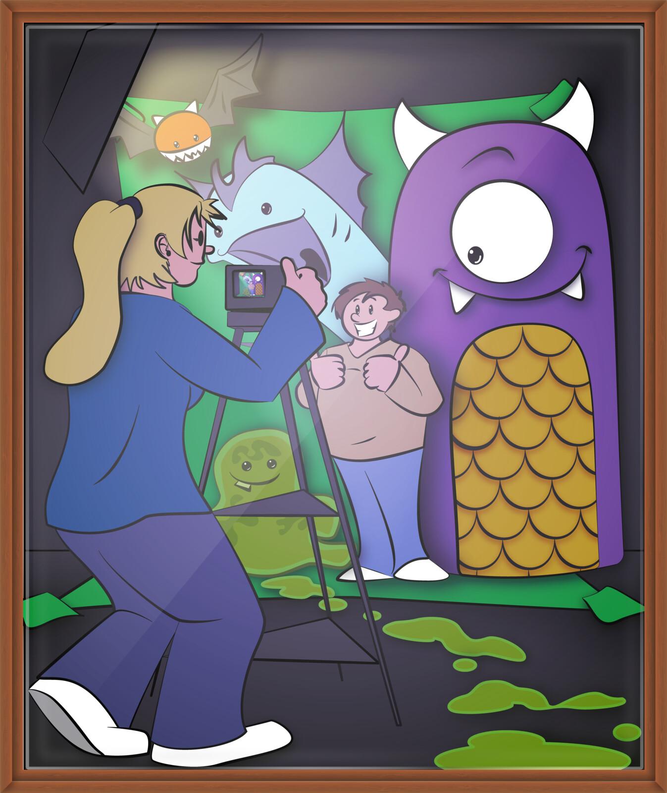Greenscreen Monsters Illustration