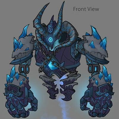 Yen shu liao creature concept dark magic golem portfolio yenshuliao
