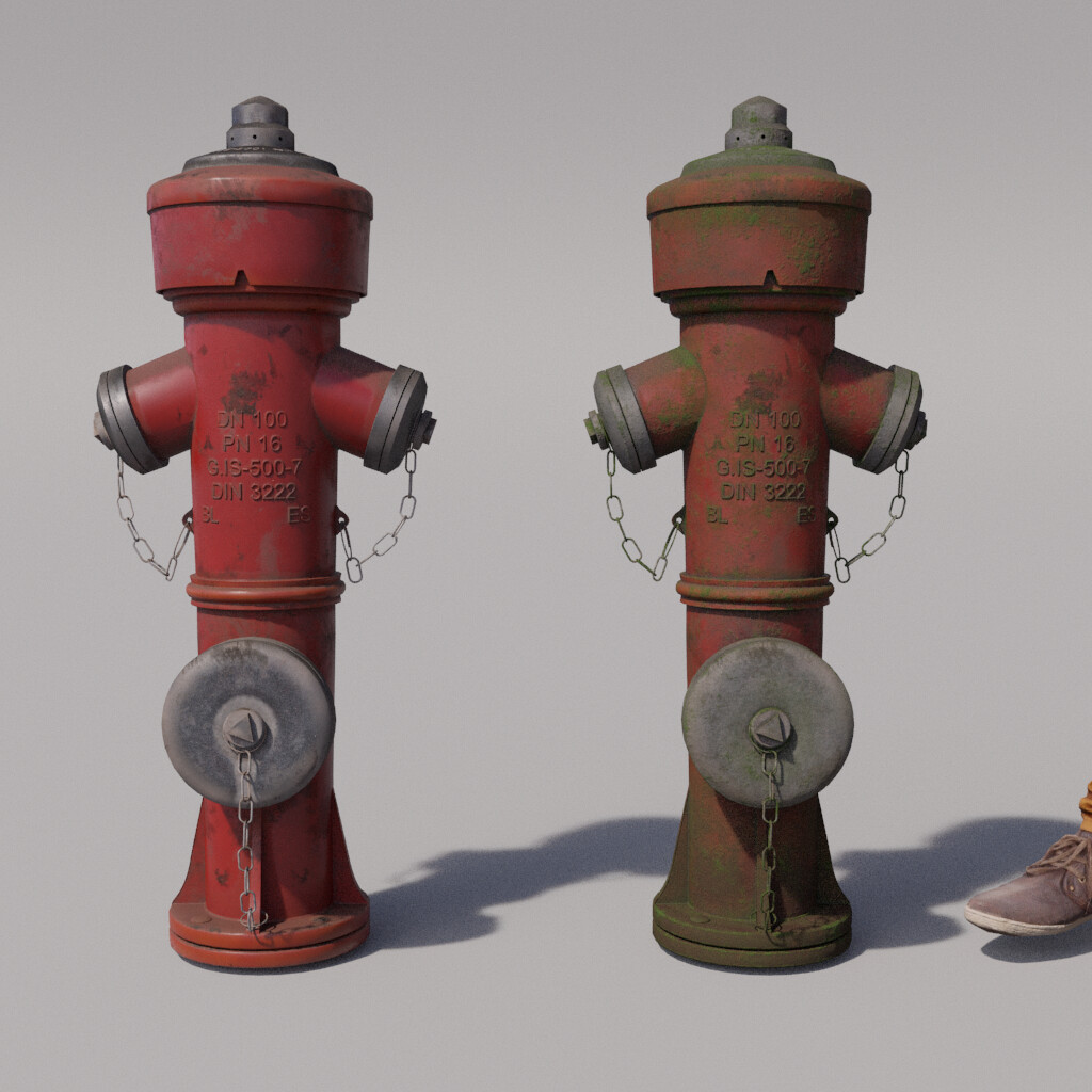 Fire Hydrant Render