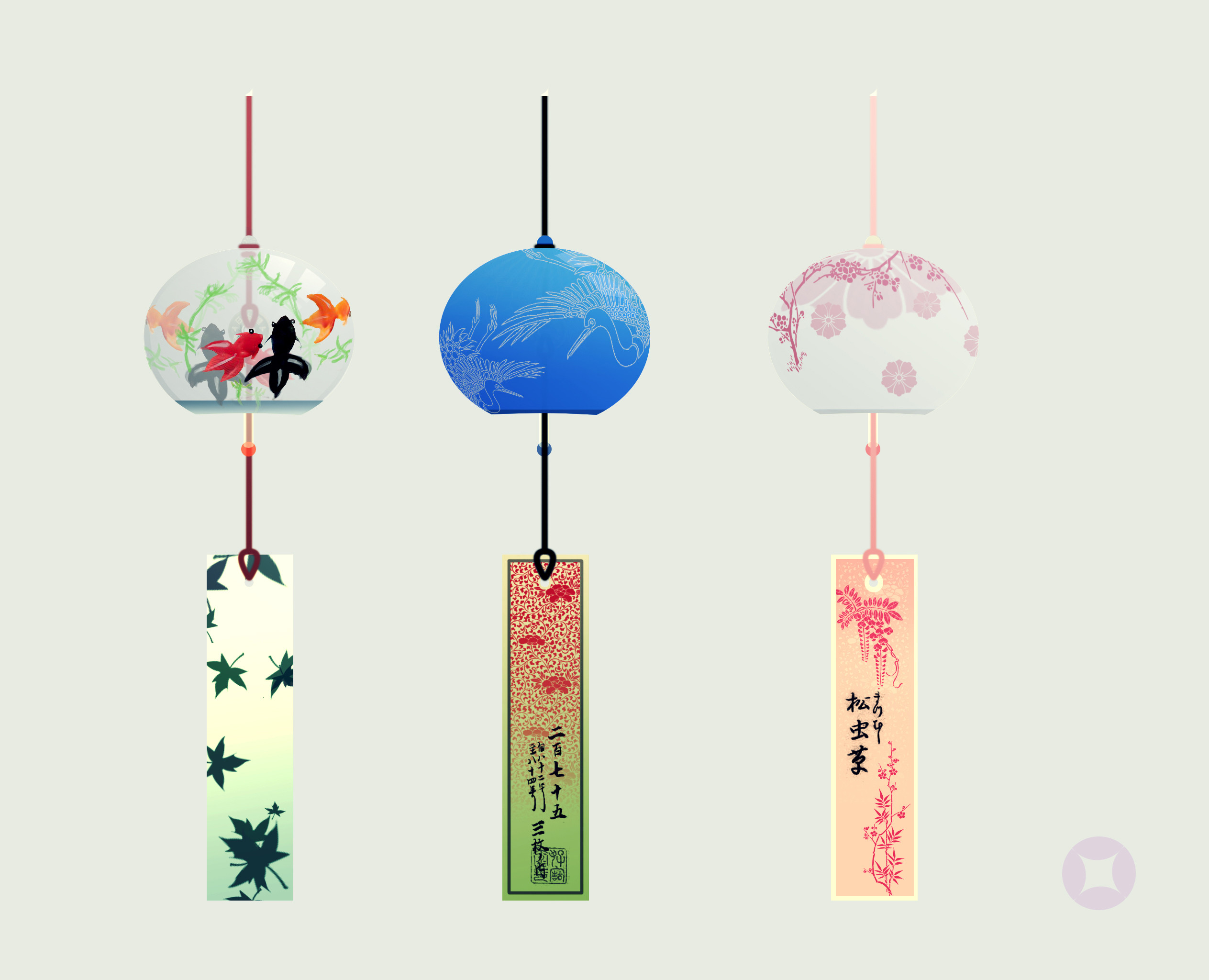 Japanese chimes Concept