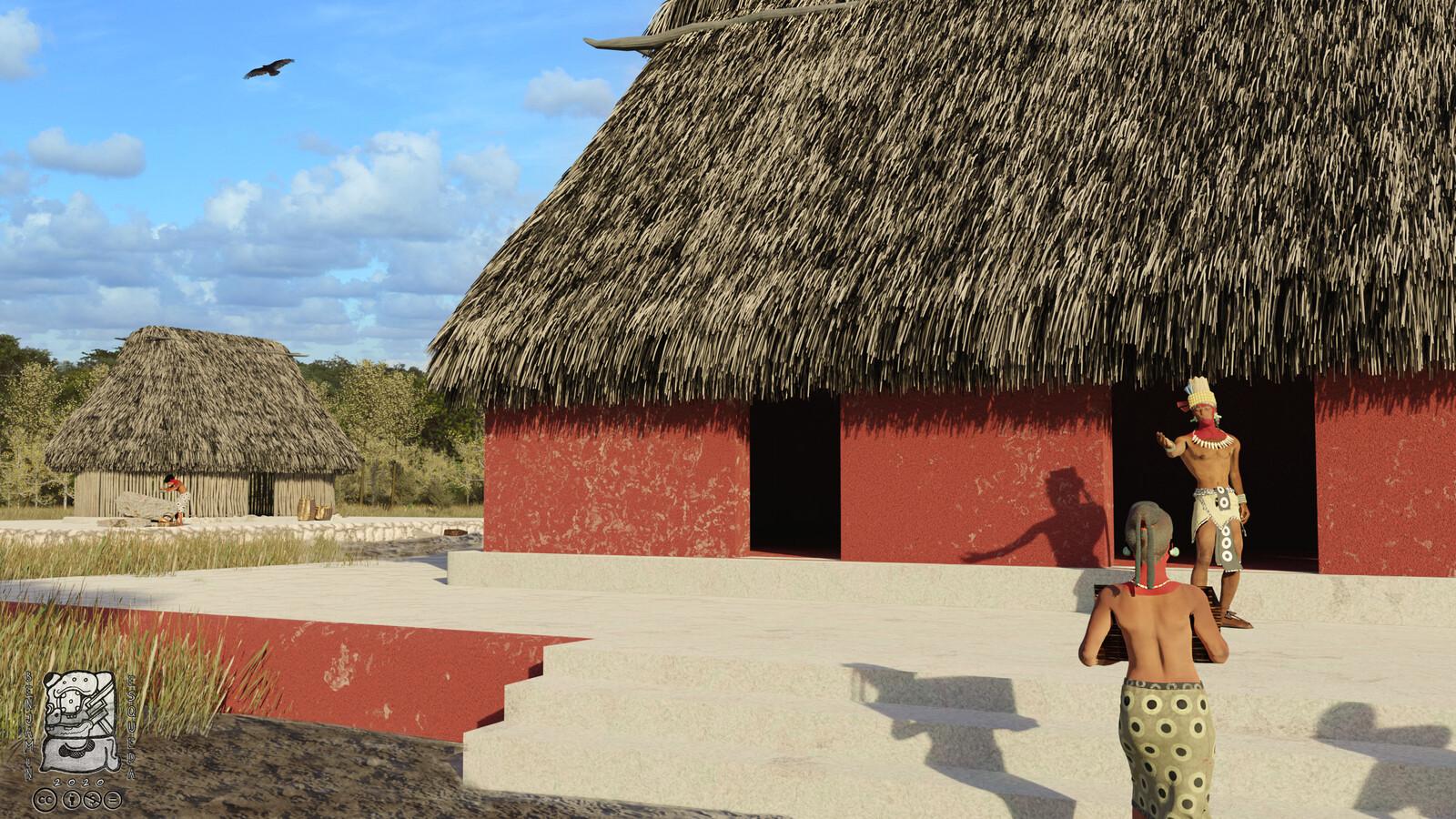 La arquitectura del Preclásico Medio (1000 al 450 a.C.) se caracteriza por grandes plataformas con super estructuras habitacionales, elaboradas principalmente de bajareque con techos de guano.