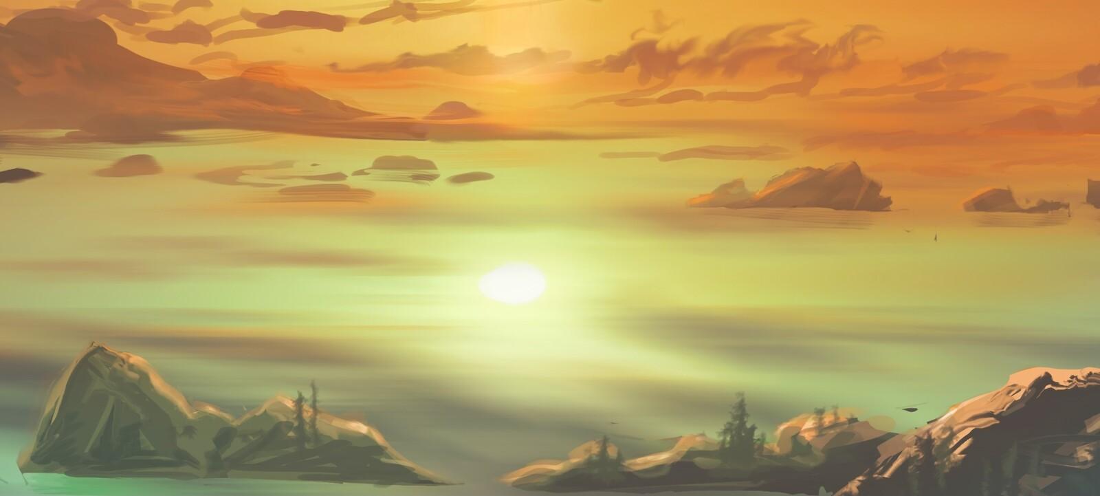 just below horizon - detail1 underwater sun