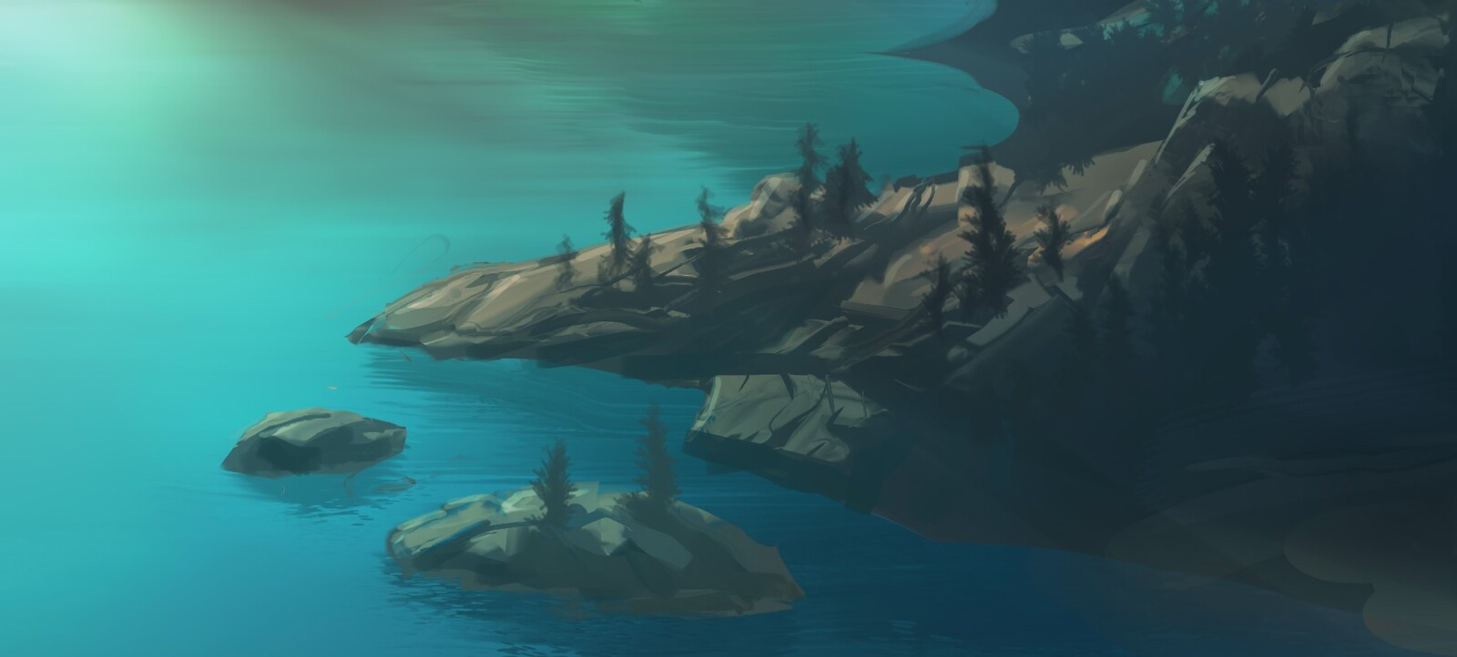 just below horizon - detail3 rocky coast