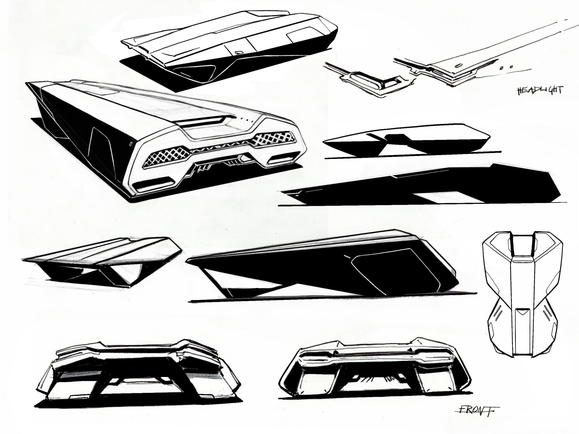 Minimalist Car design based on Lancia prototype.