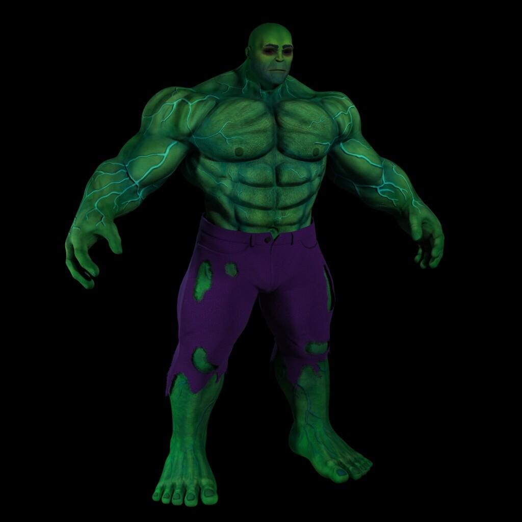 Hulk Texture, Maya/Arnold Render