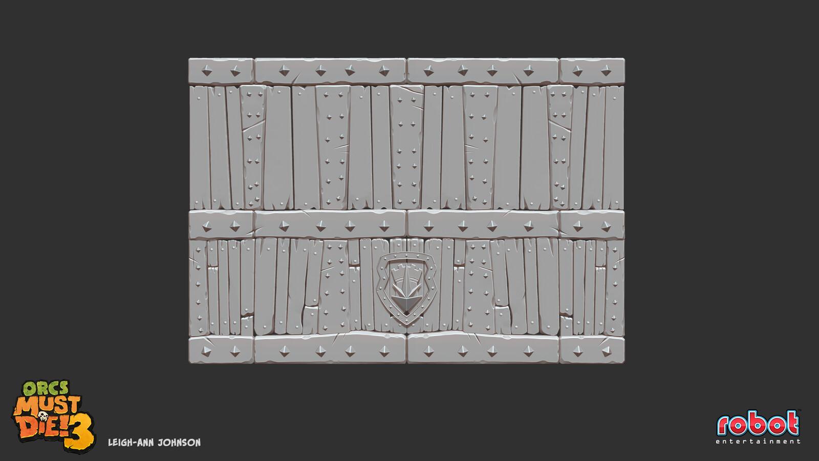 Portcullis Door High Poly Sculpt