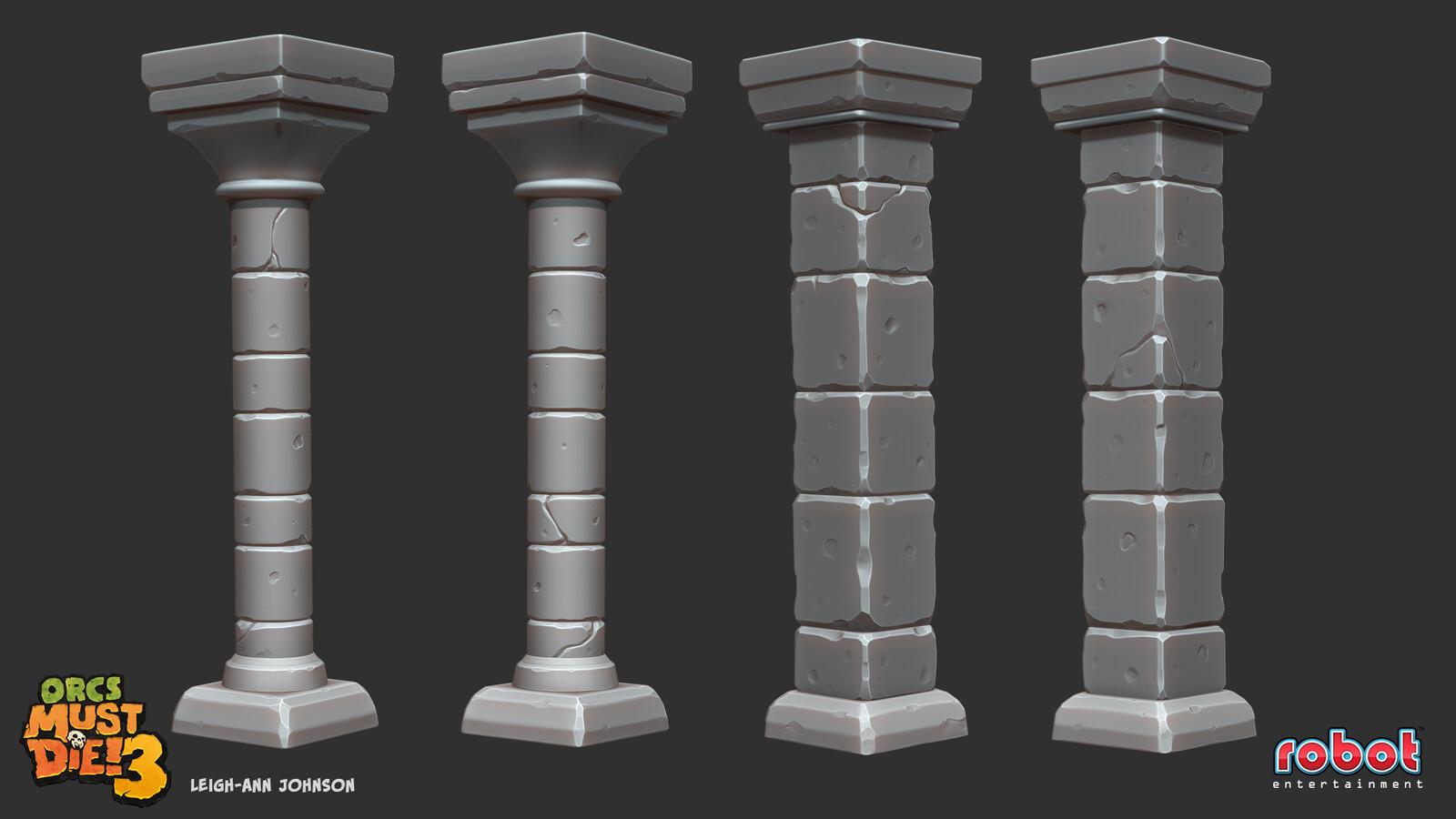 Columns - High Poly Sculpts