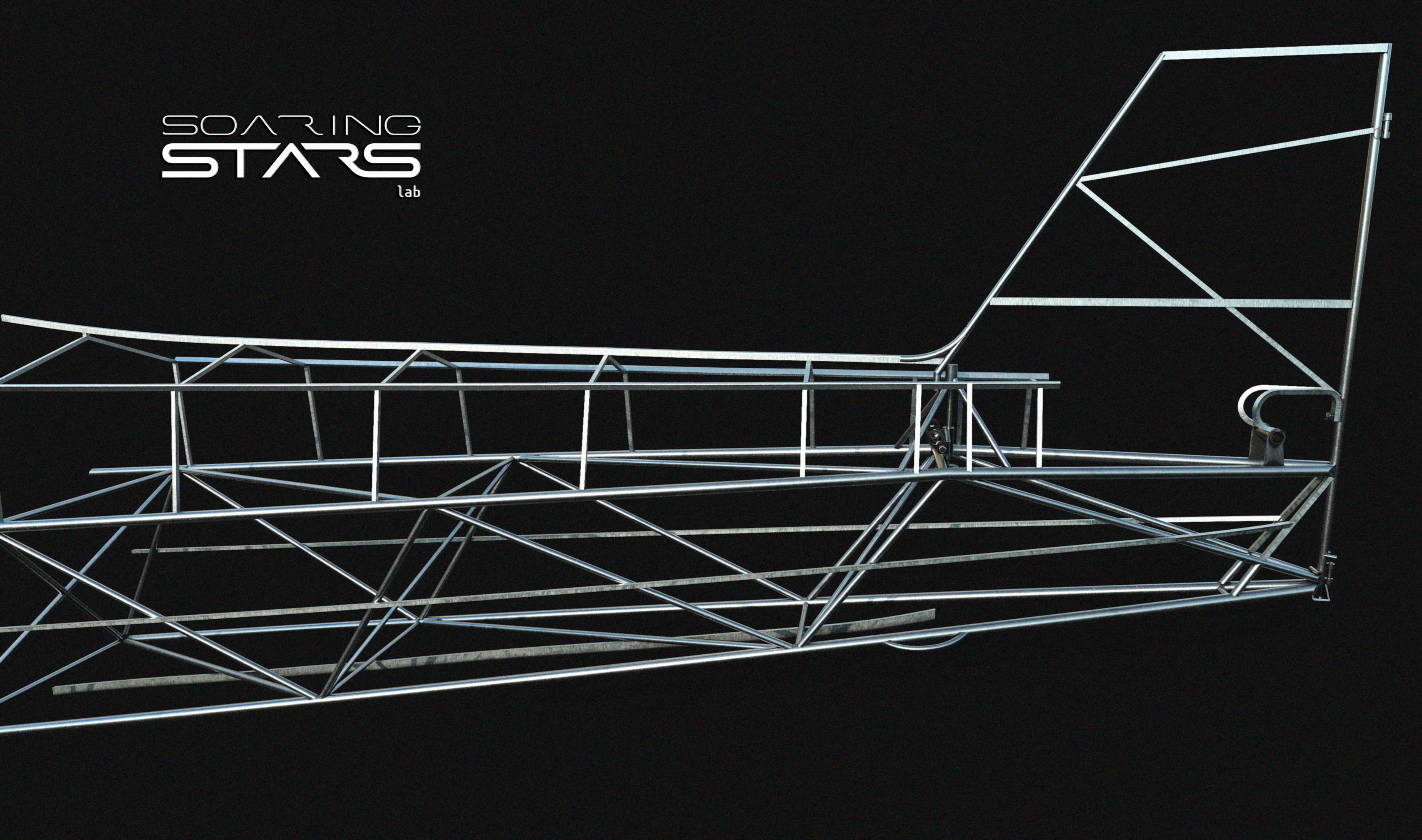 J3CUB 3D model. Fuselage frame made in Rhino Grasshopper