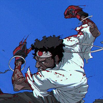 Tonton revolver tonton revolver afro samurai randy 01 final