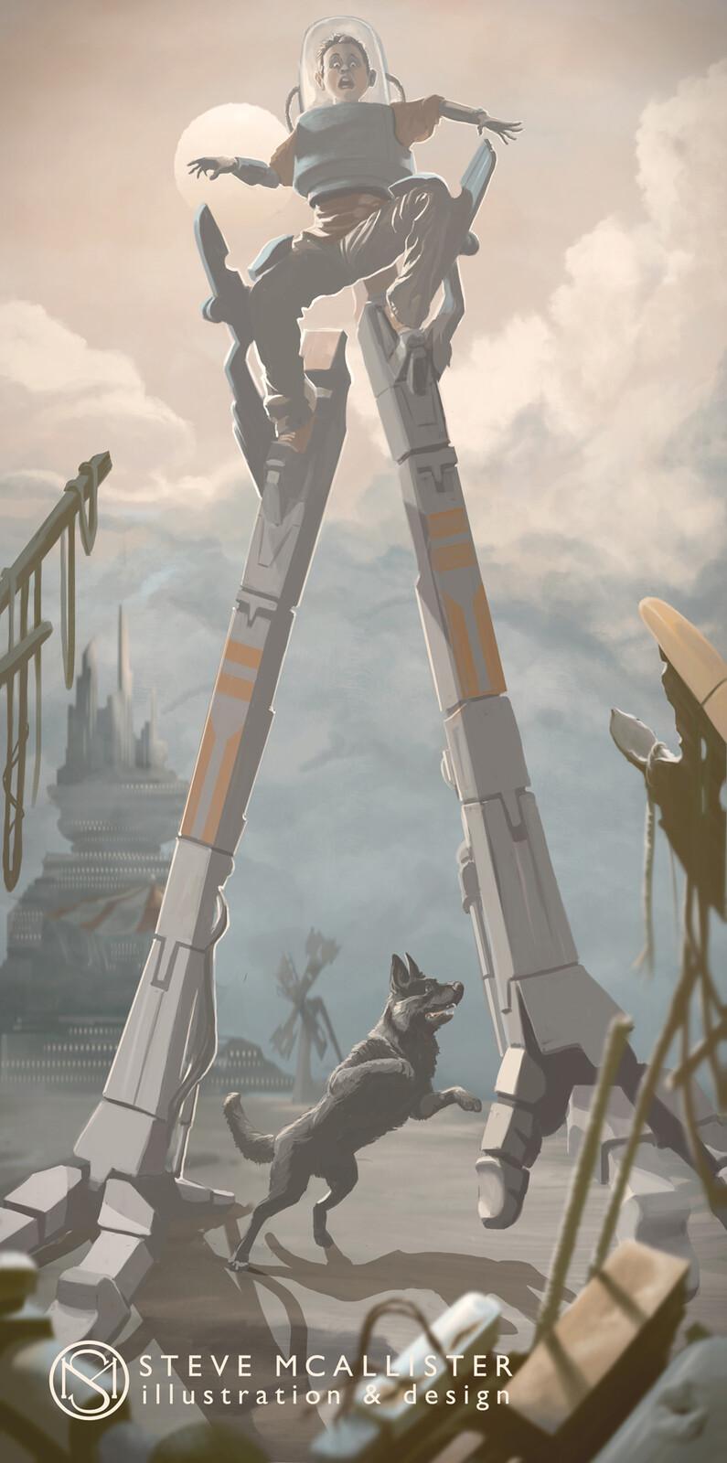 Sci-fi, Children's art, concept illustration