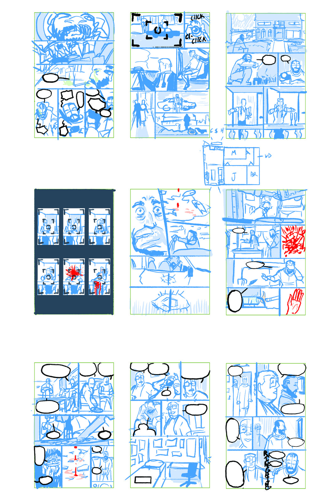 Layout Roughs Pages 01-09