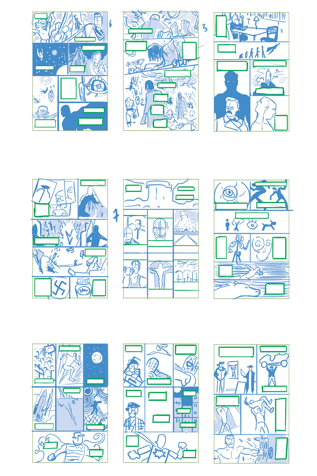 Layout Roughs 1-9