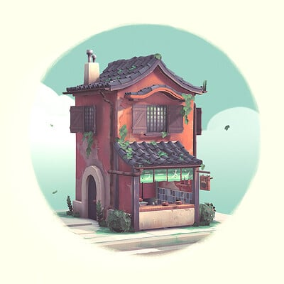 Handpainted Ramen Shop