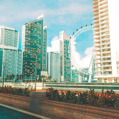 Trackmania 2 : Lagoon City And Wheel By Day