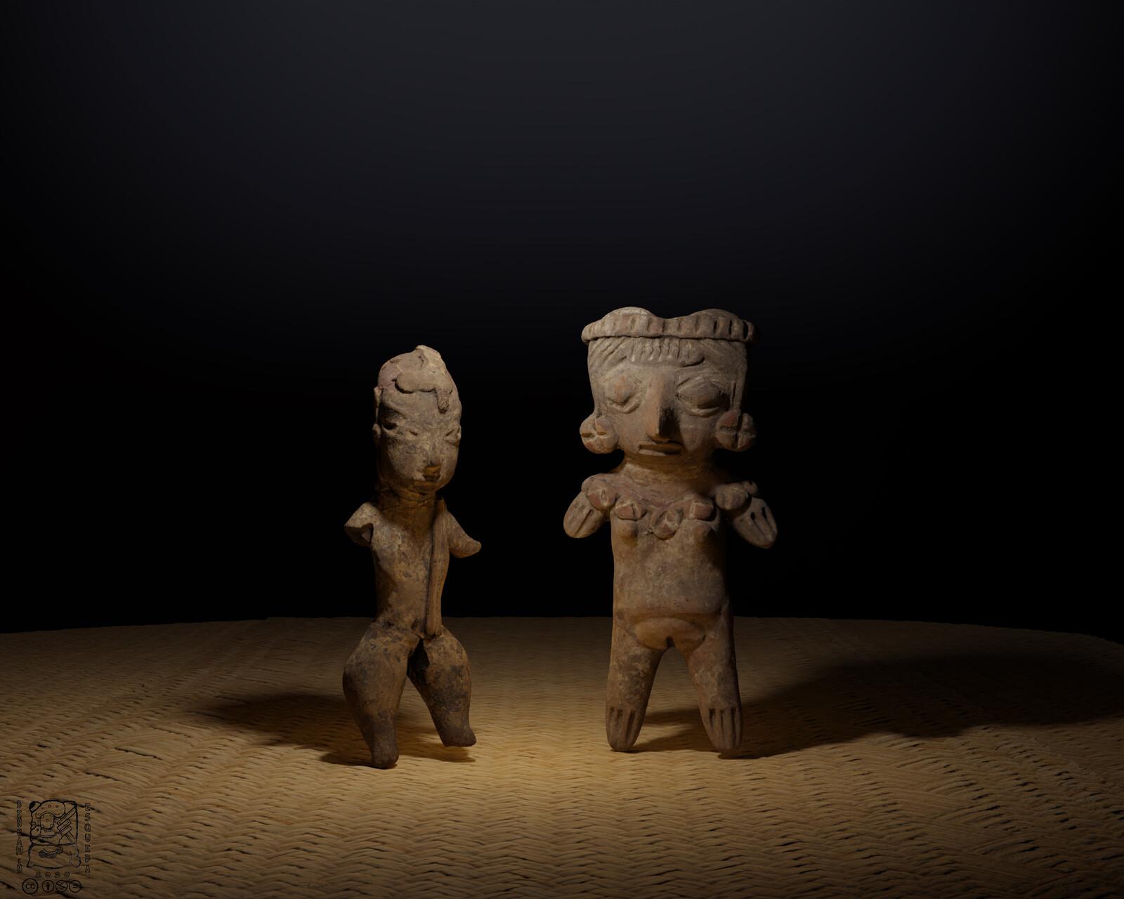 Este tipo de figurillas modeladas en barro son conocidas con el nombre de mujeres bonitas. Las mismas dan cuenta de los patrones de belleza existentes entre los grupos aldeanos asentados en los medios lacustres del valle de México.