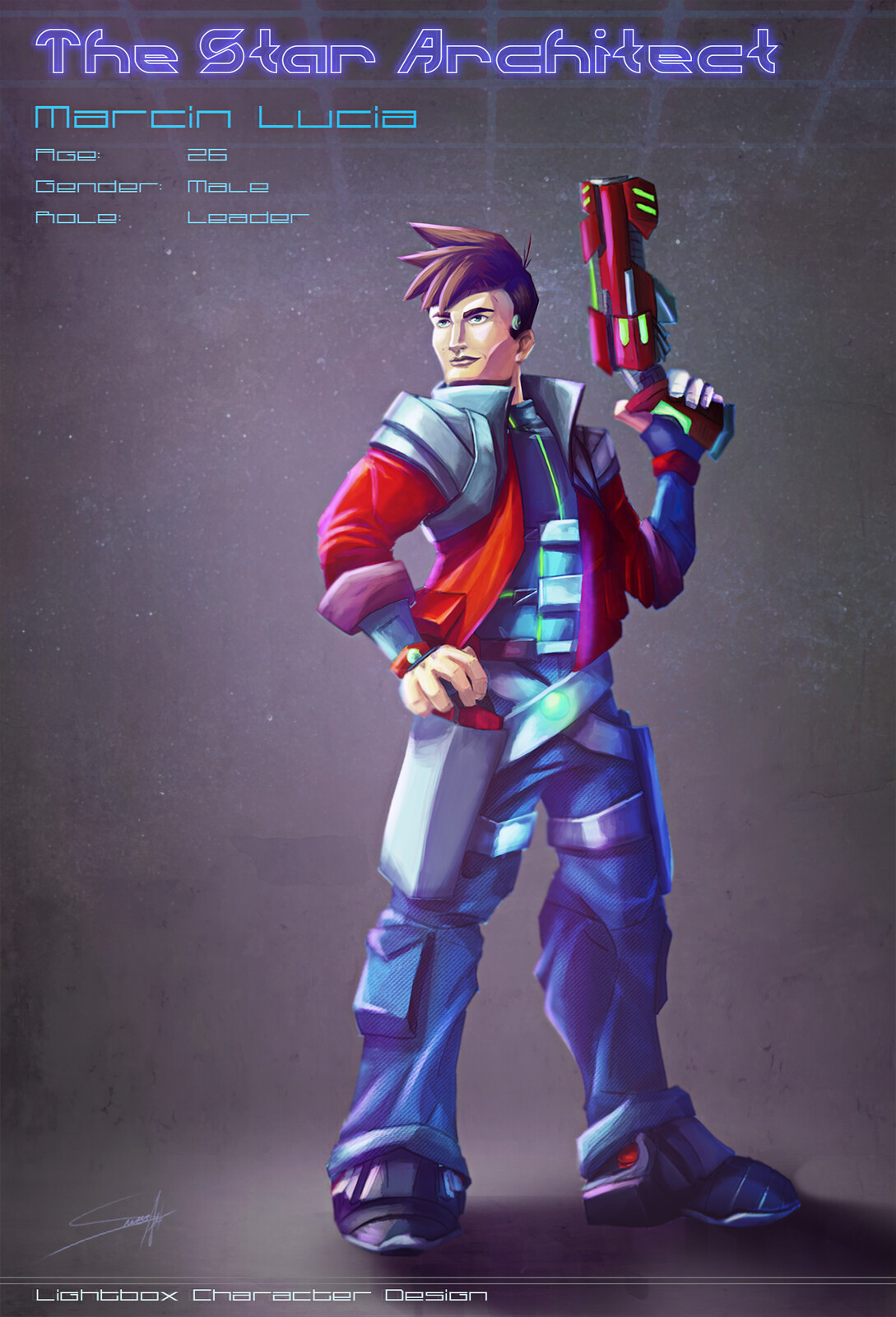 Marcin Lucia - The adventurer Leader Character