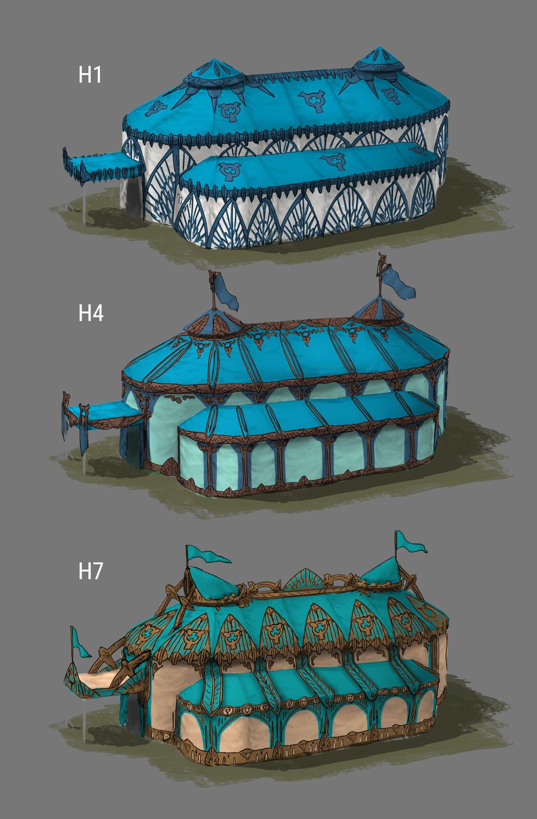 Design variations tent exterior 01