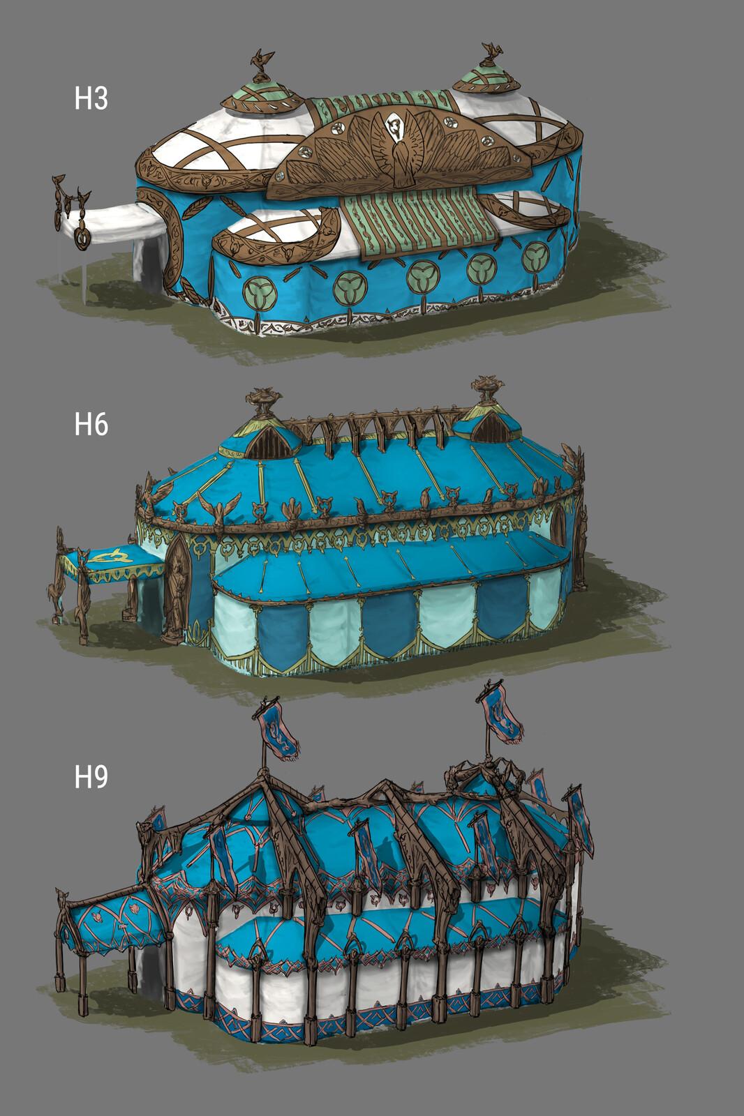 Design variations tent exterior 03