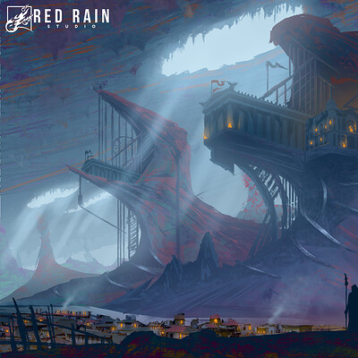 Redrain game studio key art lunar punk 2