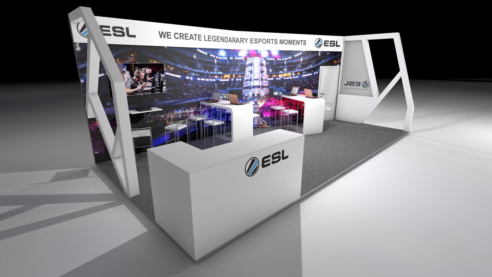 ESL Booth @ SPOBIS Düsseldorf Germany