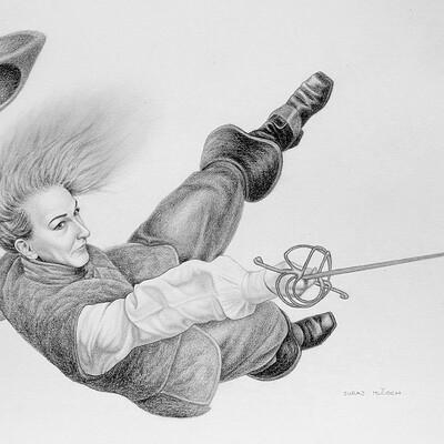 Juraj mlcoch drawing 38 juraj mlcoch fencing2