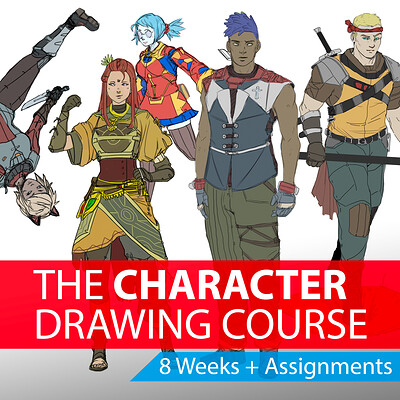 The Character Drawing Course  - GUILDEON CONCEPTS