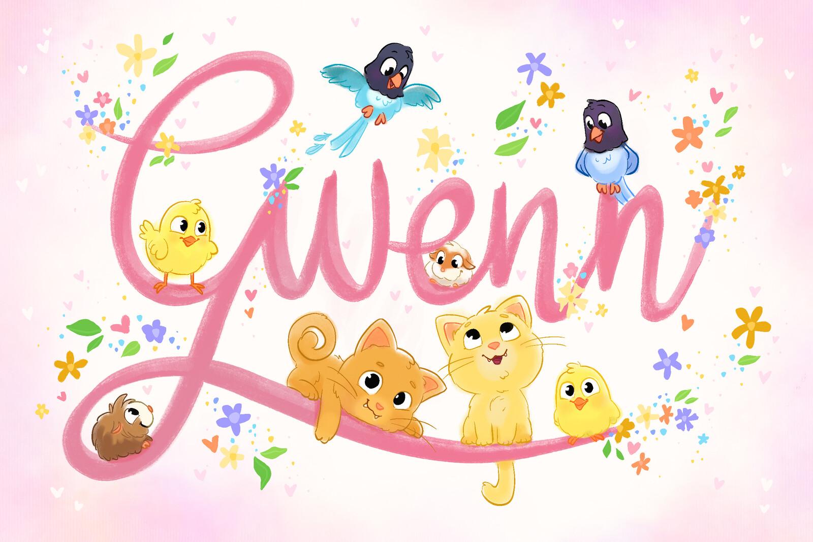 Birth Announcement Card - Gwenn