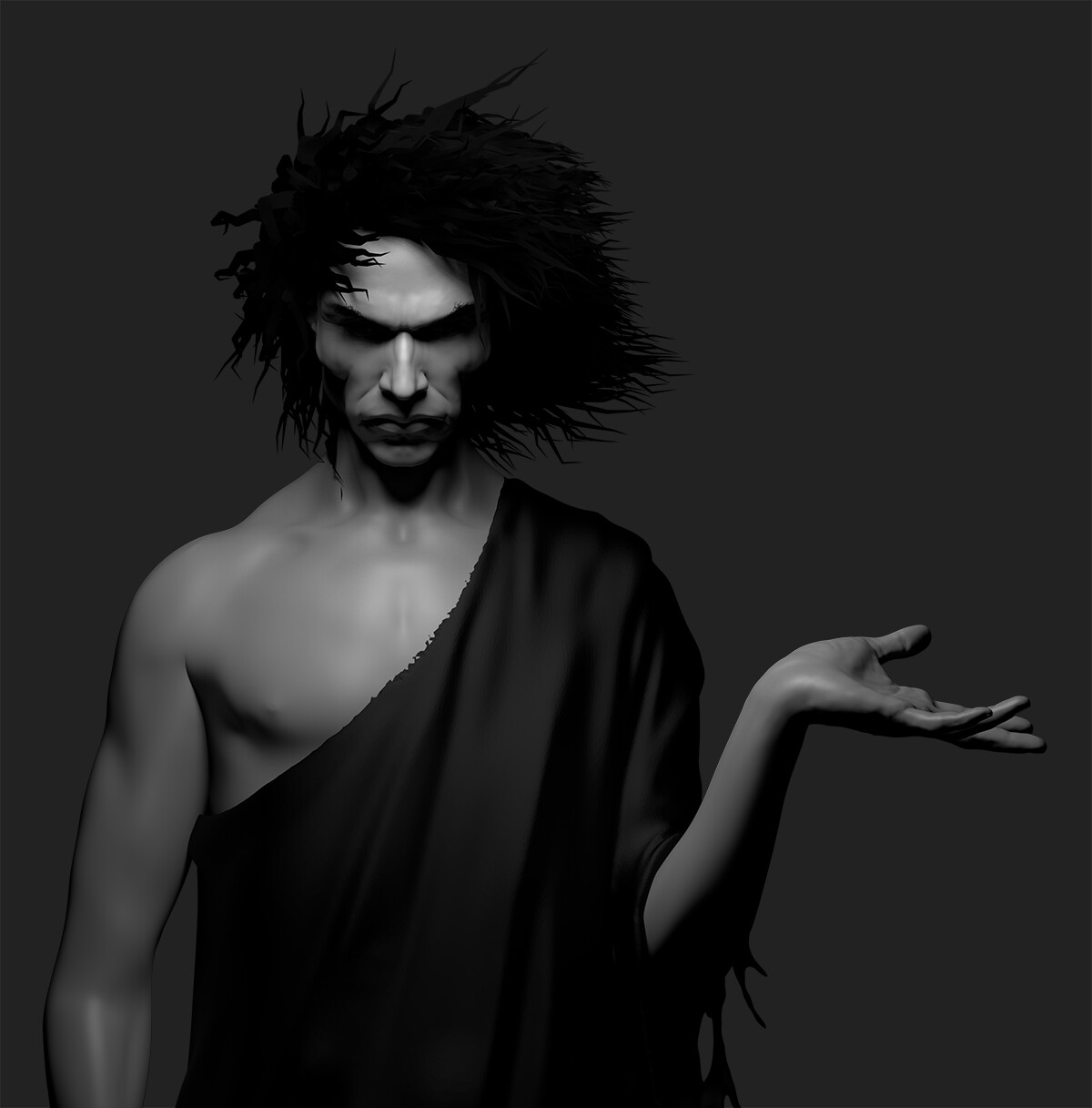 Here's the Redshift renders I created of my Sandman model. The final artwork was created by painting over the model in photoshop.