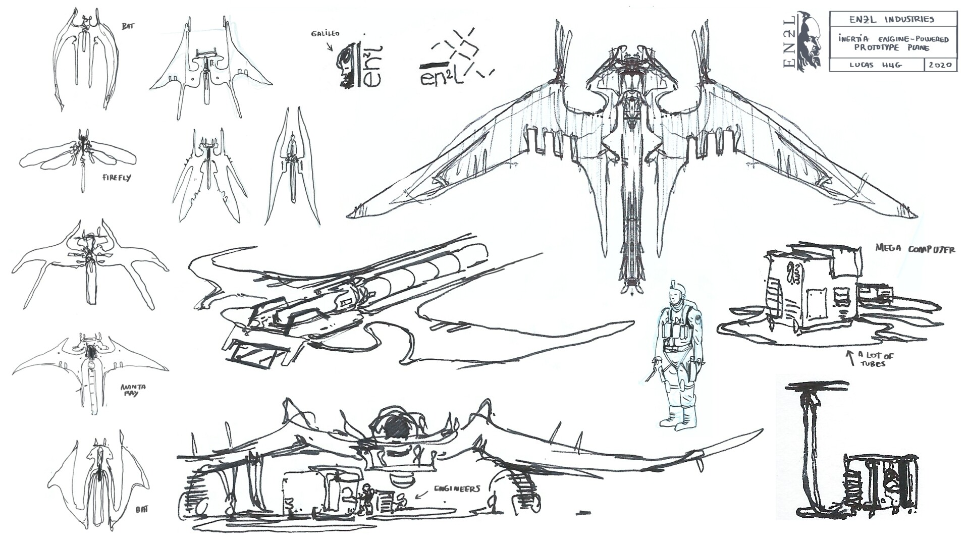 A selection of WIP sketches
