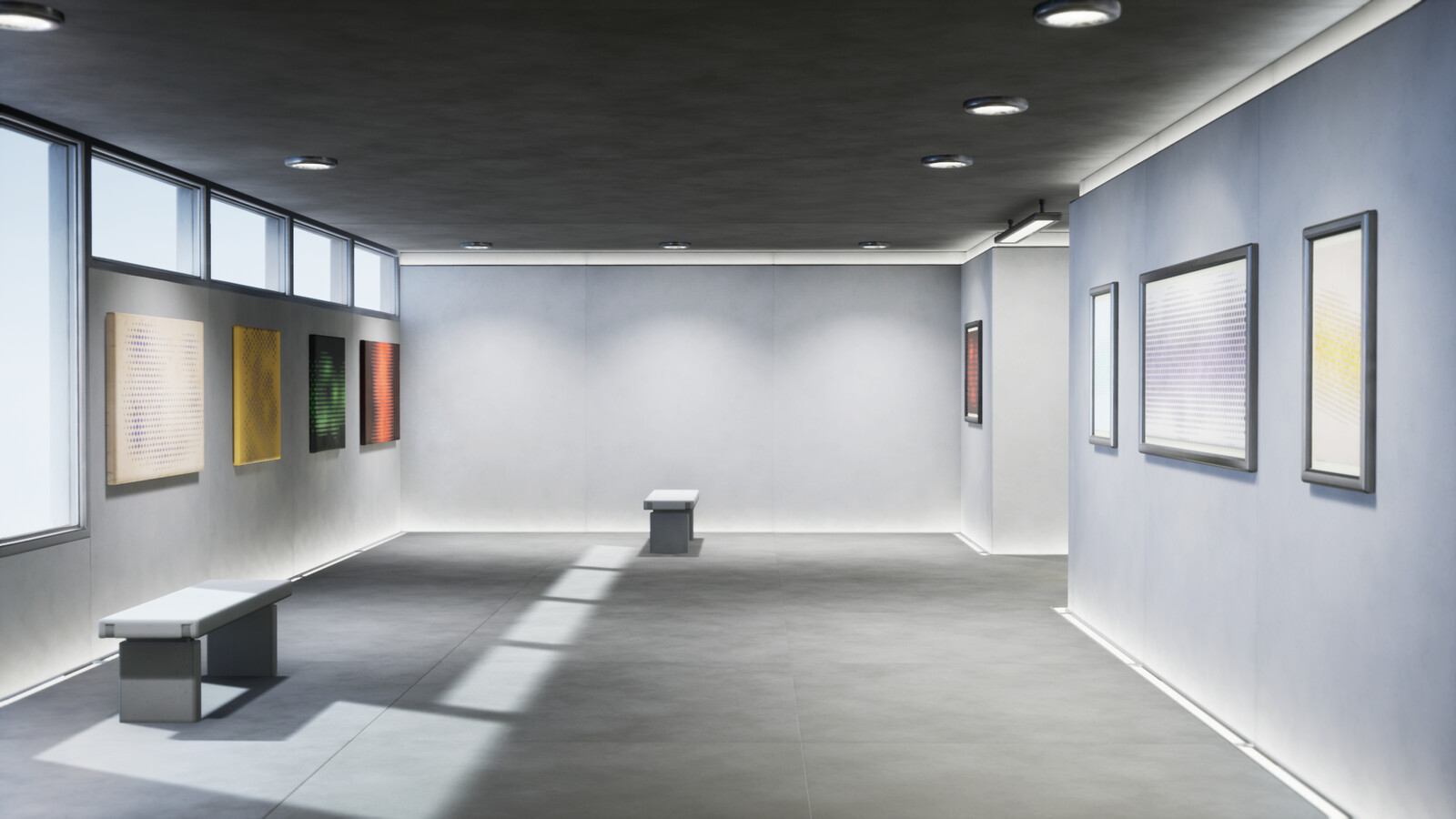 The gallery space in Unreal