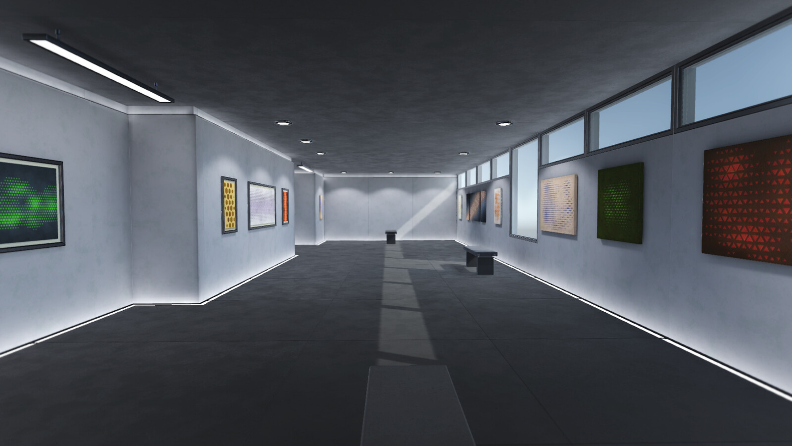 Another shot of the gallery demo in Unity