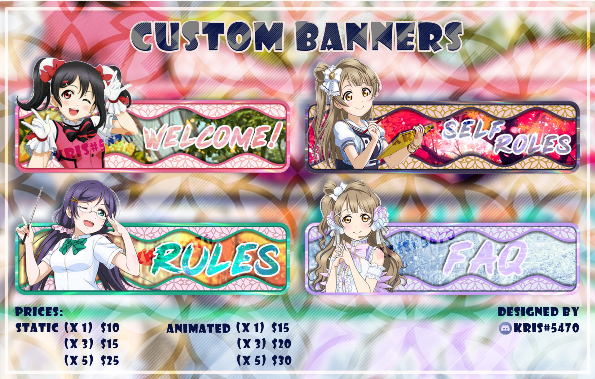 ArtStation - Custom Banners and Profile Pictures for Discord, Sweet Waffles