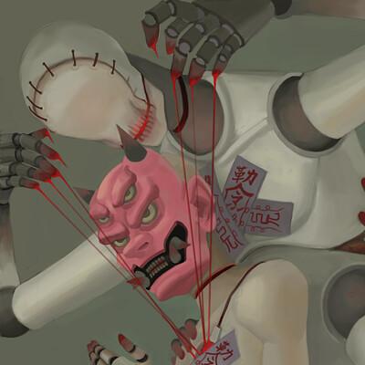 Dark ghost humanoid oc series 13012020 06 puppet 11