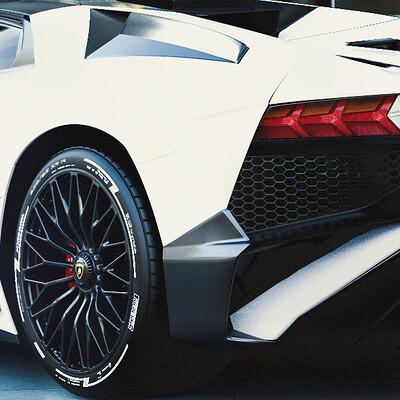 Lamborghini Aventador White Concept