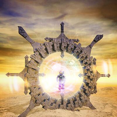 Luca oleastri desert portal signed