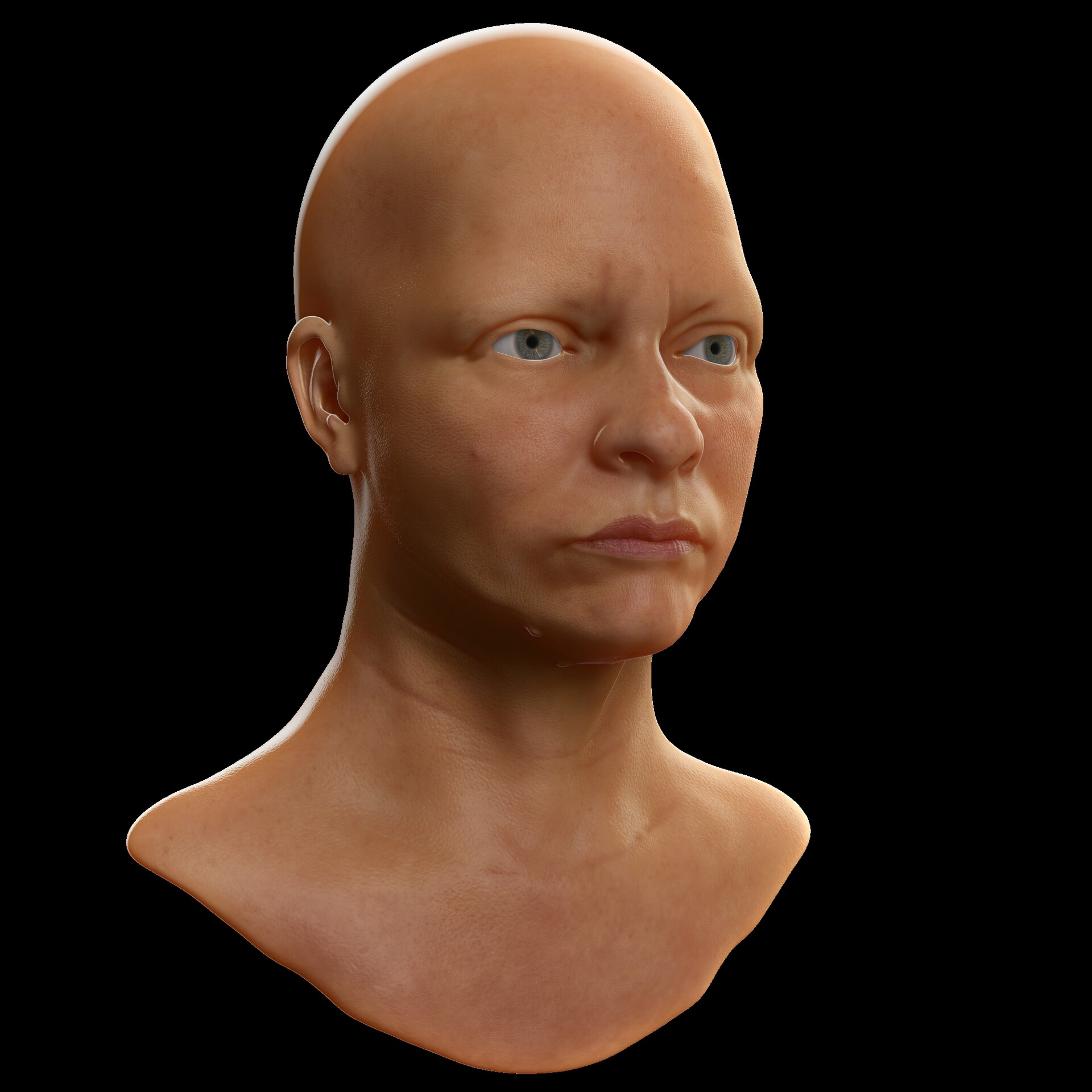 Added the right material for eyes and sclera and adjusted the lighting.