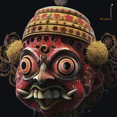 Surajit sen the maskk digital sculpture surajitsen jul2020 lgh