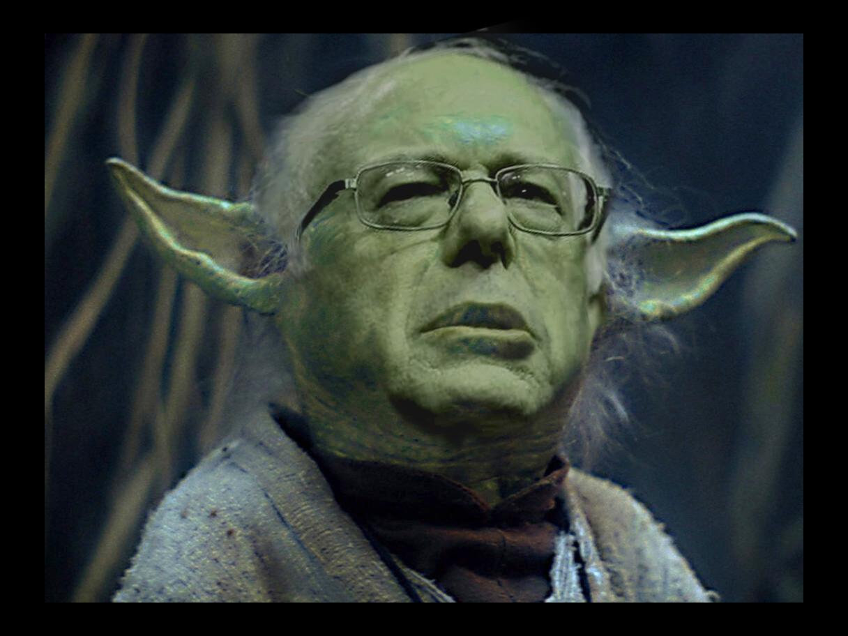 Burnie Sanders into Yoda