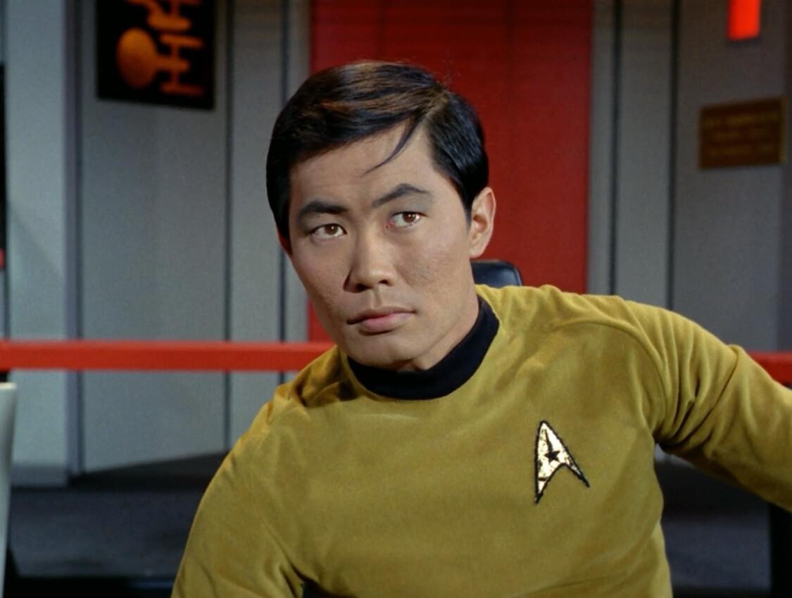 Image of Sulu from the original Star Trek, Bing images