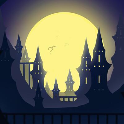 Chloe houle ville lune silhouette
