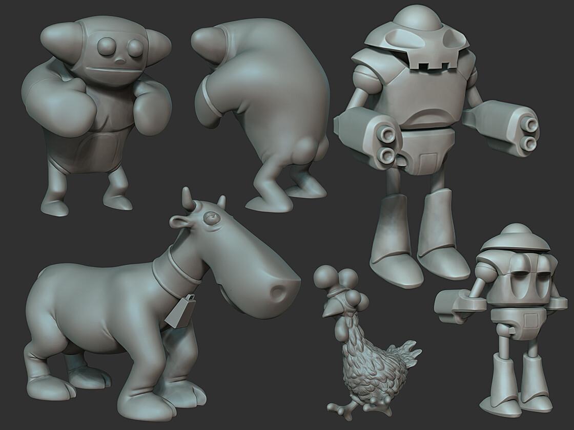 Character sculpts