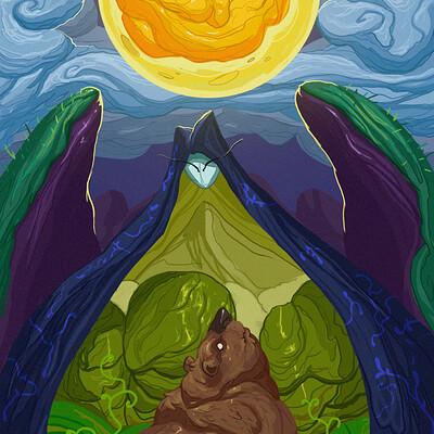Juanda rico la luna y el oso