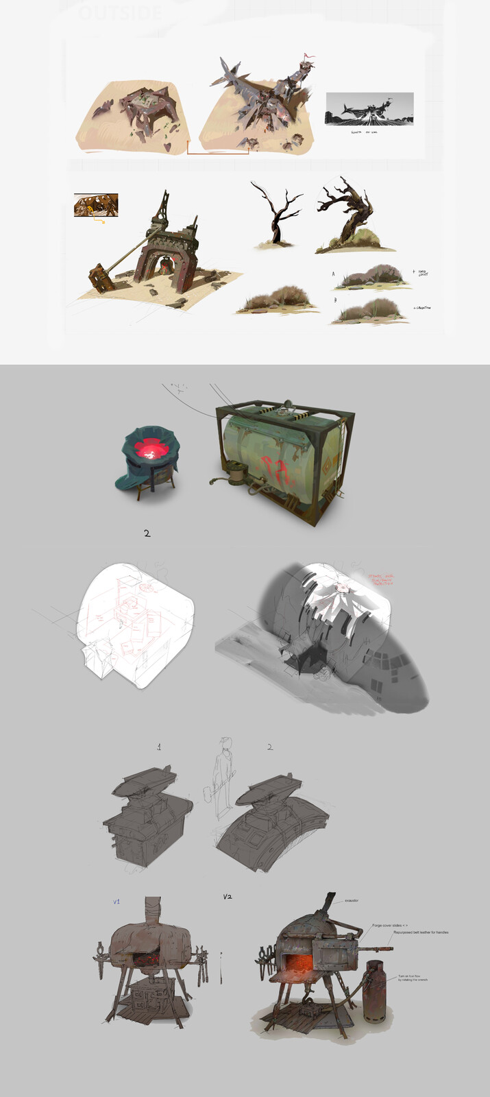 Some initial ideas by Yan Kyohara and art directed by me and Isabela Litger